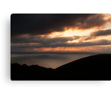 Sunset over the Bristol Channel Canvas Print