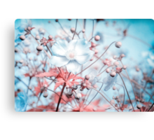 Noisy flowers Canvas Print