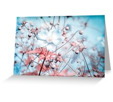Noisy flowers Greeting Card