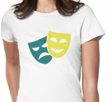 Theater masks Womens Fitted T-Shirt