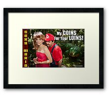 SexyMario MEME - My Coins For Your Loins 1 Framed Print