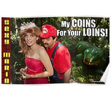 SexyMario MEME - My Coins For Your Loins 1 Poster