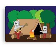 Cats Camping Canvas Print