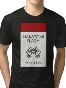 Nakatomi Plaza - Property Card Tri-blend T-Shirt