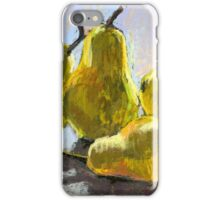 Pears on a table. Still life. Soft pastel. iPhone Case/Skin