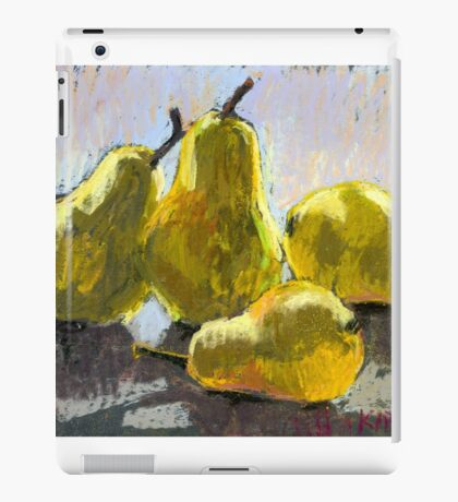 Pears on a table. Still life. Soft pastel. iPad Case/Skin