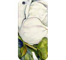 Magnolia Bloom with Leaves iPhone Case/Skin