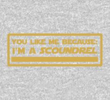 Because: I'm a Scoundrel! (Yellow) Kids Clothes