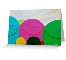 Blobs Greeting Card
