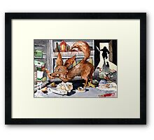 It is the foxy fennec who purged whole fridge Framed Print
