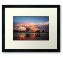Fire In The Sky - New Forest Framed Print