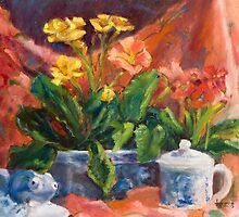 Primroses and Blue China by jimmie