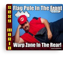 SexyMario MEME - Flag Pole In The Front, Warp Zone In The Rear! 2 Canvas Print