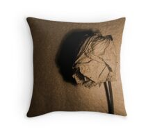 Dried rose.. Throw Pillow