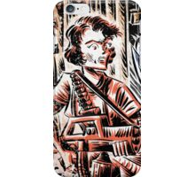 Ripley and the Alien Art Print. Aliens, Sigourney Weaver, Joe Badon, Ridley Scott, James Cameron, Drawing, illustration, sci fi, horror iPhone Case/Skin