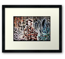 Ripley and the Alien Art Print. Aliens, Sigourney Weaver, Joe Badon, Ridley Scott, James Cameron, Drawing, illustration, sci fi, horror Framed Print