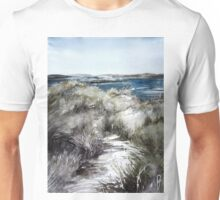 Scotish environment along seashore Unisex T-Shirt