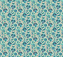 Blue Floral Spring Pattern by rcurtiss000
