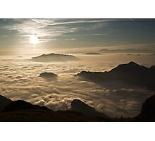 over the clouds Photographic Print
