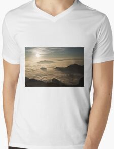 over the clouds Mens V-Neck T-Shirt