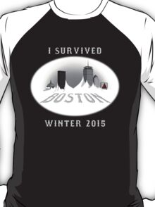 I Survived Boston Winter 2015 (Color) T-Shirt
