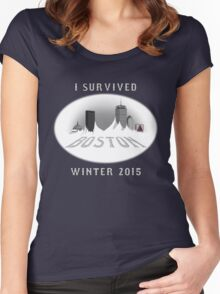 I Survived Boston Winter 2015 (Color) Women's Fitted Scoop T-Shirt