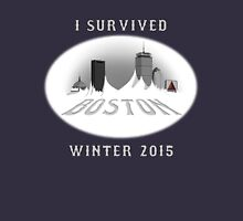 I Survived Boston Winter 2015 (Color) Unisex T-Shirt
