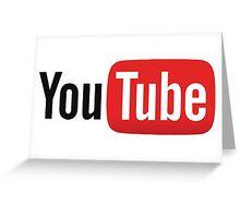 YouTube Logo Greeting Card