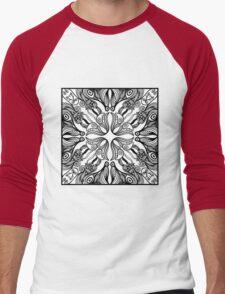mandala design Men's Baseball ¾ T-Shirt