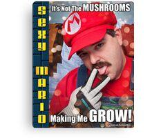 SexyMario MEME - It's not the mushrooms making me grow! 1 Canvas Print