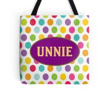 UNNIE - PURPLE POLKA DOTS Tote Bag