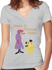 Drat & Double Drat Women's Fitted V-Neck T-Shirt