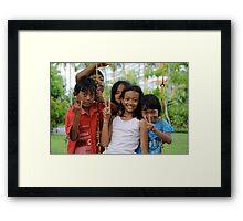 Kids of Bali -3- Framed Print