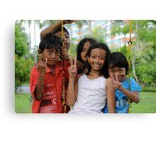 Kids of Bali -3- Canvas Print