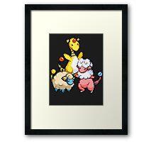 Mareep Evolutions Framed Print