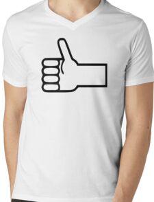 Thumbs up Mens V-Neck T-Shirt