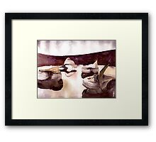 bordo interior Framed Print