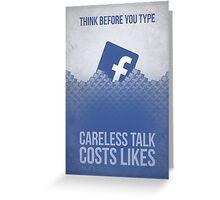 Facebook Propaganda Poster Greeting Card