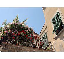 Tuscan Balcony Photographic Print
