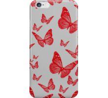 Red butterflies iPhone Case/Skin