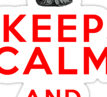 Keep Calm and Don't Blink - Weeping Angels - Doctor Who Sticker