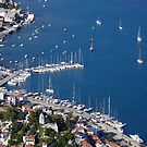 Skiathos port, aerial view by airphoto-gr