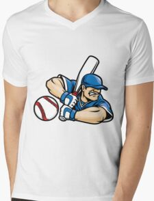 Baseball Fury Mens V-Neck T-Shirt