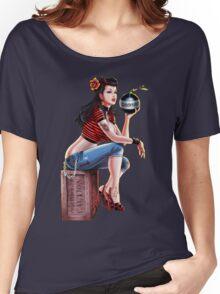 SheVibe Bomb Girl Cover Art Women's Relaxed Fit T-Shirt