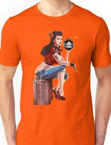 SheVibe Bomb Girl Cover Art Unisex T-Shirt