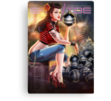 SheVibe Bomb Girl Cover Art Canvas Print