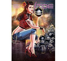SheVibe Bomb Girl Cover Art Photographic Print