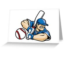 Baseball Fury Greeting Card
