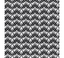 Black and Grey Art Deco Pattern Photographic Print