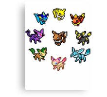 Pixel Eeveelutions Canvas Print